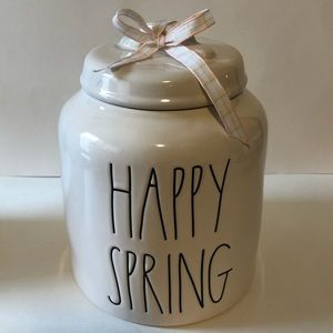 New Rae Dunn happy spring canister